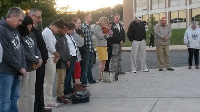 See You At The Pole, Prayer, Flag Pole in front of Tamaqua Senior High School, Tamaqua (9-24-2014)