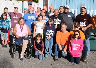 Volunteers, Donation Drop Off, Tamaqua Community Giveaway, M & M Self Storage, Tamaqua (9-27-2014)