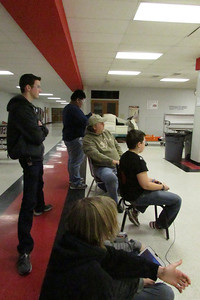 Driver training in the cafeteria