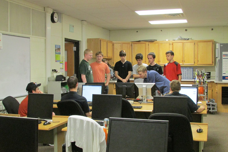 CAD displays work for rookies