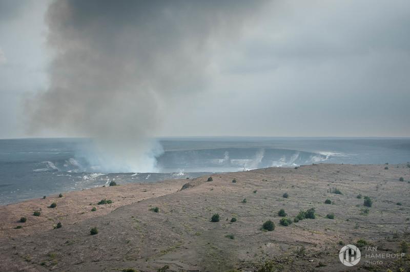 Volcanic Gas Rises