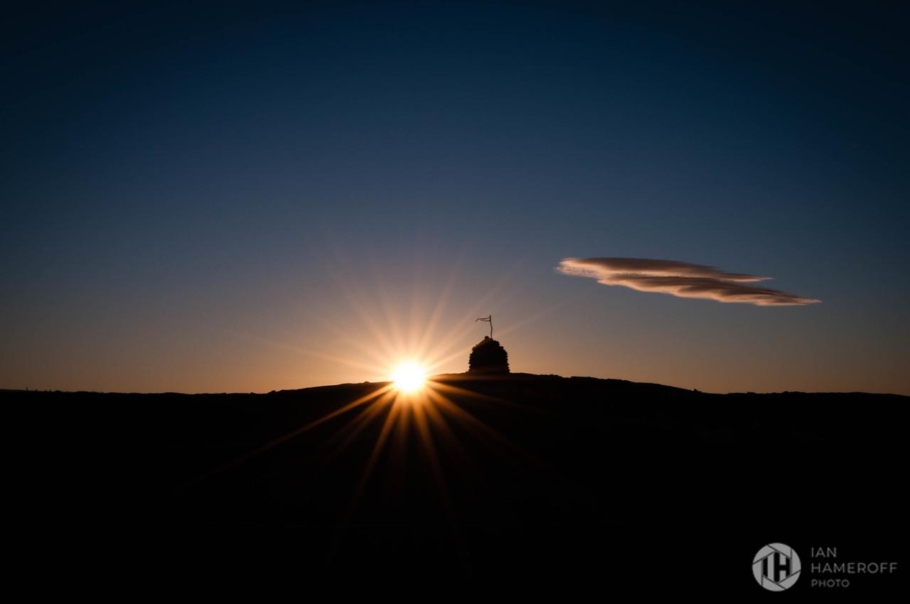 Sunset Over Pu'u Huluhulu