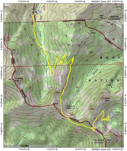 Azalea Lake Steve Fork Red Buttes Wilderness California