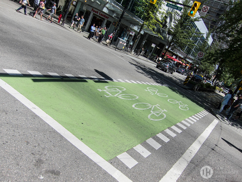 Bike Lane Off Robson