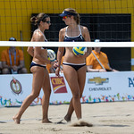 USA vs El Salvador in the Preliminary Round of Women's Beach Volleyball at the Toronto 2015 Pan Am Games.