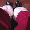 Santa, leg selfie