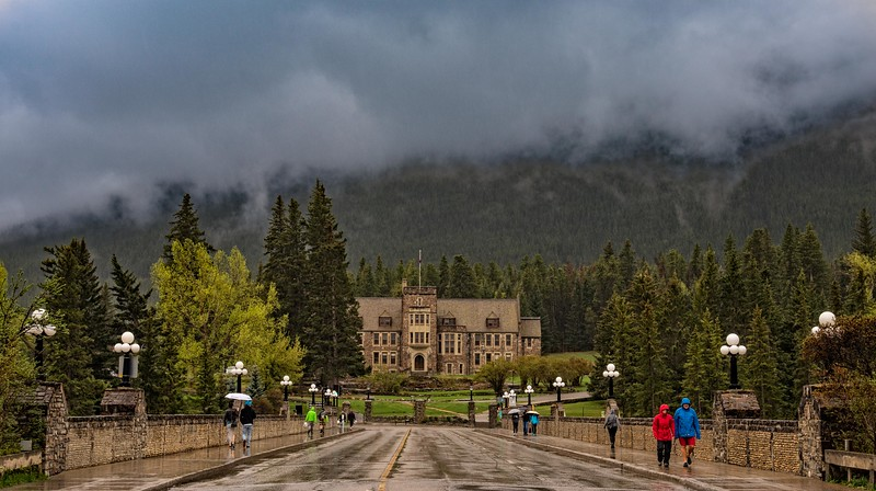 A rainy day in Banff