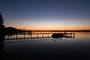 Morning still St Clair River Marine City MI