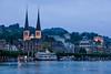 Lucerne Night Skyline - Lucerne Switzerland