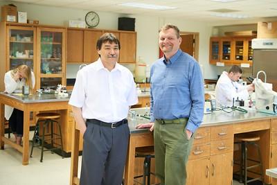 -UWL UW-L UW-La Crosse University of Wisconsin-La Crosse; day; Inside; Lab; May; Portrait; Professor, Bruce Riley, Mark Sandheinrich Dean of Science