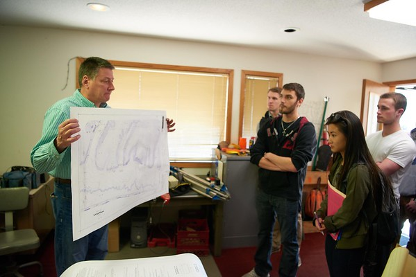 Activity; Studying; Buildings; Downtown; Location; Outside; People; Alumni; Student Students; Spring; April; Time/Weather; day; sunny; Type of Photography; Candid; UWL UW-L UW-La Crosse University of Wisconsin-La Crosse; Finance field trip to land survey for realtor course