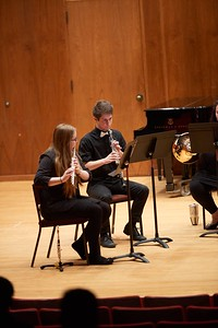 Activity; Music; Buildings; Center for the Arts CFA; Location; Inside; Objects; Band; People; Student Students; Winter; December; UWL UW-L UW-La Crosse University of Wisconsin-La Crosse; Type of Photography; Candid; Time/Weather; day; Woman Women; Man Men