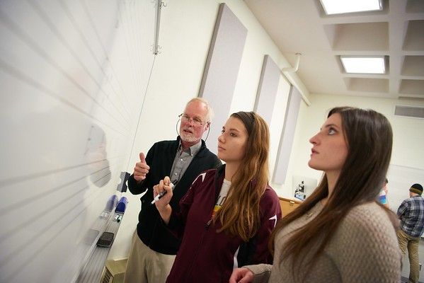 "-UWL UW-L UW-La Crosse University of Wisconsin-La Crosse; Candid; Center for the ArtsCFA; Classroom; Collaborating; day; December; Inside; Music; Pen; Pencil; Professor; Student students; Studying; ""Whiteboard;Chalkboard""; Woman women"