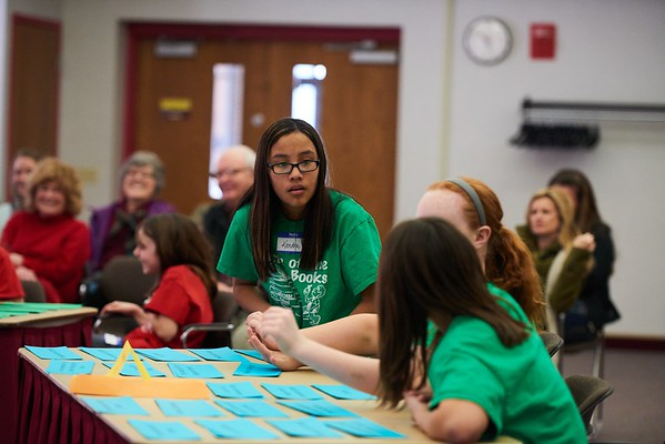 Activity; Community Service; Collaboration; Reading; Buildings; Cartwright; Location; Inside; Objects; Books; People; Student Students; Type of Photography; Candid; UWL UW-L UW-La Crosse University of Wisconsin-La Crosse; Winter; February; English Department Battle of the Books