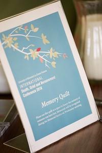 La Crosse, UW La Crosse memory quilt bereavement Conference
