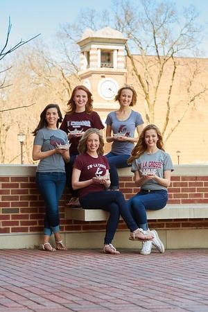 -UWL UW-L UW-La Crosse University of Wisconsin-La Crosse; April; Centennial; Community Service; day; Outside; Portrait; Posed' Women; Students; beauty pageant