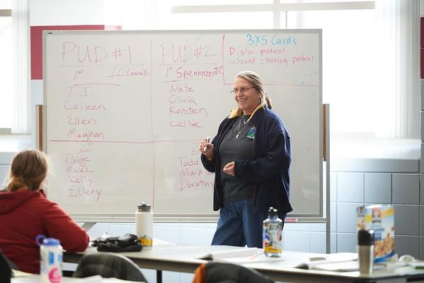 Activity; Teaching; Buildings; Recreational Eagle Center Rec; Location; Classroom; Inside; People; Student Students; Woman Women; UWL UW-L UW-La Crosse University of Wisconsin-La Crosse; Winter; January