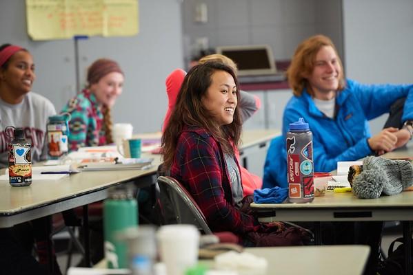 Buildings; Recreational Eagle Center Rec; Location; Classroom; Inside; People; Student Students; Woman Women; UWL UW-L UW-La Crosse University of Wisconsin-La Crosse; Winter; January