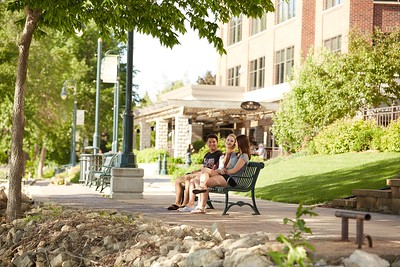 Buildings; Downtown; Activity; Walking; Socializing; Riverside Park; Location; Outside; People; Woman Women; Student Students; Man Men; Diversity; Summer; June; Time/Weather; day; Type of Photography; Candid; UWL UW-L UW-La Crosse University of Wisconsin-La Crosse; River; Bridge