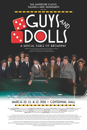 "Upper School musical ""Guys and Dolls"""