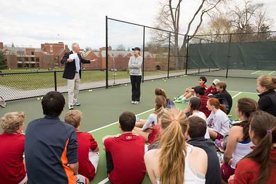 Tennis clinic with Chris Evert