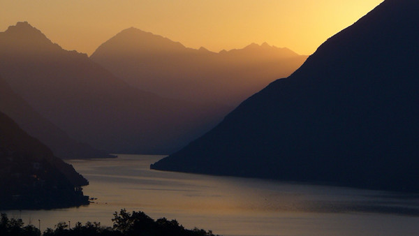 The View from Lake Lugano