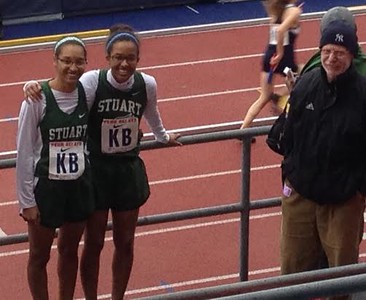 Natalie and Pam McGowen at Penn Relays