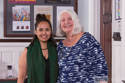 Peterson Prize winner Patricia Garcia of Mount Holyoke with retired Five College executive director Lorna Peterson.