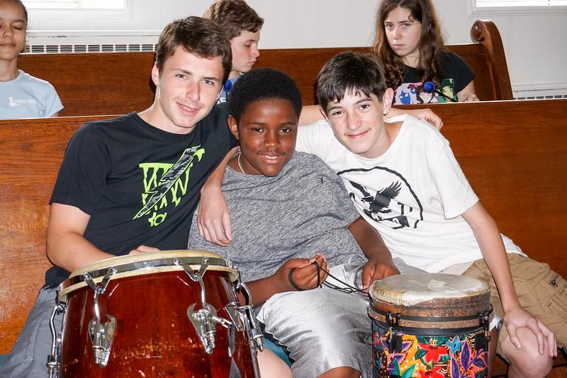Drumming with Teacher Glenn