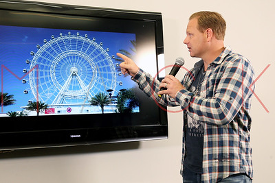 NEW YORK, NY - APRIL 13:  Nik Wallenda speaks at a press conference where he revealed his next feat will take place on April 29, 2015 at the soon-to-be-unveiled Orlando Eye, located in Orlando, Florida. Wallenda will attempt to walk on top of the giant ob