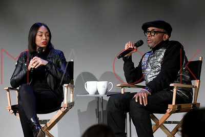 "NEW YORK, NY - FEBRUARY 09:  The Apple Store Soho Presents: Meet The Filmmaker: Spike Lee And Zaraah Abrahams, ""Da Sweet Blood of Jesus"" at Apple Store Soho on February 9, 2015 in New York City."
