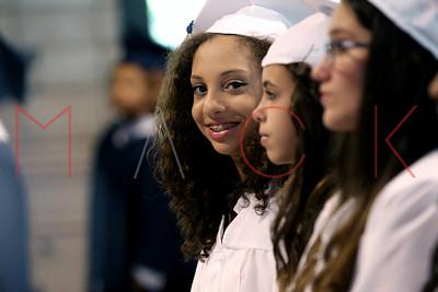 NEW YORK, NY - JUNE 25: Sydney Mack 8th Grade graduation.