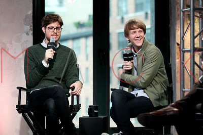 "NEW YORK, NY - OCTOBER 13:  Josh Thomas and Tom Ward attend AOL Build Presents: to discuss ""Please Like Me"" at AOL Studios In New York on October 13, 2015 in New York City."