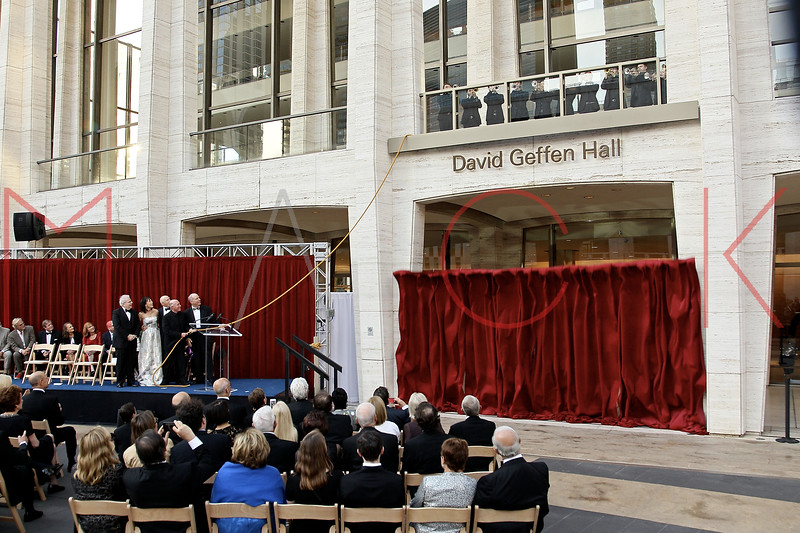 David Geffen Hall Renaming Ceremony & The New York Philharmonic's 2015-16 Opening Gala Concert, New York, USA