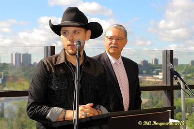 Brett Kissel - Edmonton - Nashville Mayor Twin City reception 191