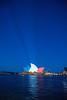 sydney opera blue red white