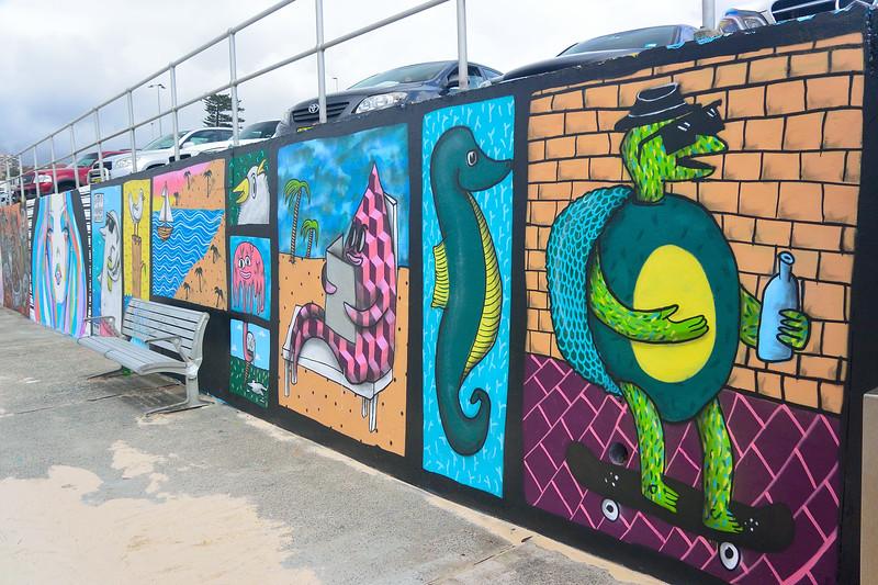 bondi bch wall