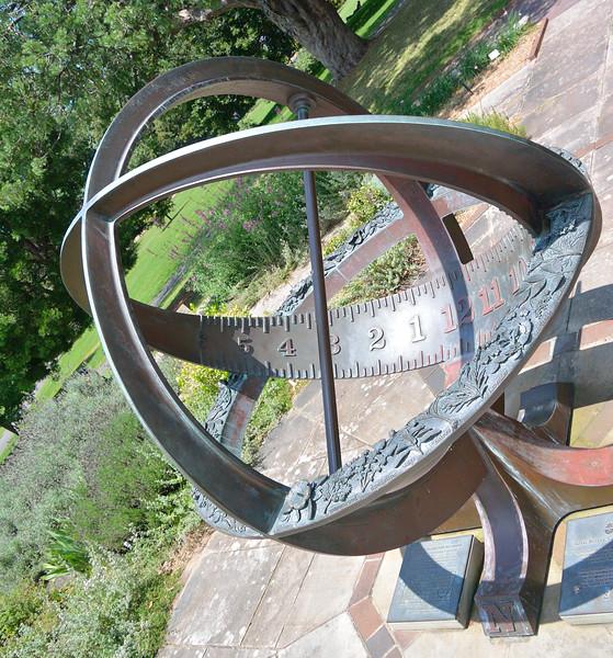 bronze sundial