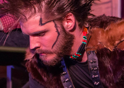 Wolverine (Kevin Lee) is the most dangerous of the four Animals -- you never know what mood you'll catch him in. Bethel 2015. Photo by John Wallace. www.tundraphotos.com