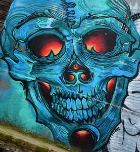 2015 vina mural skull close up