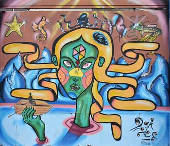 2015 vina murals woman in the lake
