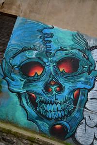 2015 vina mural skull sideways