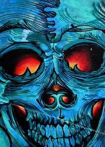 2015 Vina Murals skull close up dark