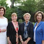 President of the Butterfly Society Deborah Greenwald, host Mary Stone, Libby Parkinson and Rosemary Kirkwood.