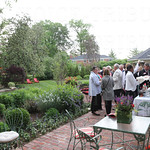 The event was held on a beautiful night as guests enjoyed conversation, cocktails and appetizers.