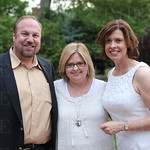 Chief Executive Officer of Heuser Institute Brett Bachmann, Education Director Debbie Woods and President of the Butterfly Society Deborah Greenwald.