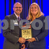 Linda Stanley, of Bank Of America Merril Lynch (right), and Large Gov't Agency Or Organization CFO Of The Year Winner Randy Harrington with the City Of Charlotte.