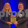 Linda Stanley, of Bank Of America Merril Lynch (left), and Midsize Gov't Agency Or Organization CFO Of The Year Winner Jeffrey Yates with Union County.