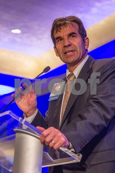 CFO Lifetime achievement award winner Greg Gombar at the CBJ CFO Awards, 2015.