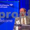 Mark Howell, board member and past president of FEI, speaks at the 2015 CBJ CFO Awards.